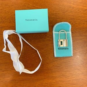 NEW Tiffany & Co. SS Hexagonal Padlock KR
